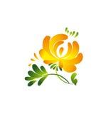 Single yellow flower  Royalty Free Stock Photos