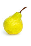 Single yellow-green pear Stock Image