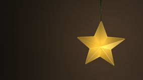 Single yellow hanging star Royalty Free Stock Photos