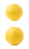 Single yellow mirabelle plum isolated Royalty Free Stock Photos