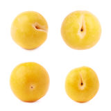Single yellow mirabelle plum isolated Royalty Free Stock Photo