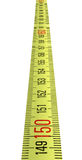 Single yellow ruler isolated, Stock Image