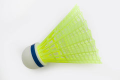 Single  yellow shuttlecock Royalty Free Stock Images