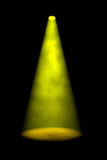 Single Yellow Smoky Spotlight Beam Stock Images