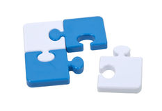 Singled Out Piece of the Puzzle Stock Photos