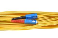 Singlemode fiber patchcord SC-PC Stock Photo