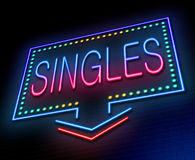 Singles concept. Stock Images