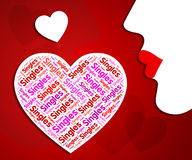 Singles Heart Shows Romantic Relationship And Meeting Royalty Free Stock Photo