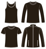 Singlet, T-shirt, Long-sleeved T-shirt and Jacket Royalty Free Stock Images