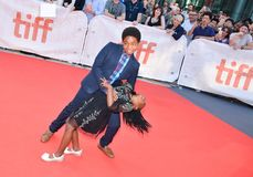 Serenety Brown and Isaac Brown at Toronto international film festival for KINGS premiere Royalty Free Stock Image