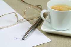 Singning a contract royalty free stock photo