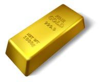 Singola barra di oro Fotografie Stock Libere da Diritti
