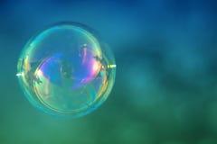 Singola bolla di sapone Fotografie Stock