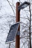 Singola centrale elettrica all'inverno immagini stock libere da diritti