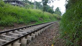 Singola ferrovia Fotografia Stock