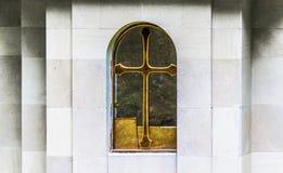 Singola finestra della chiesa Fotografie Stock Libere da Diritti