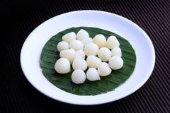 Singola forma della lampadina di aglio dell'elefante (allium ampeloprasum varietà ampeloprasum) - aglio tailandese dell'elefante  Fotografia Stock