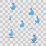 Singola goccia di acqua realistica Immagine Stock
