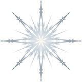 Singola illustrazione congelata del fiocco di neve Fotografie Stock