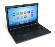Singola illustrazione 3d del computer portatile royalty illustrazione gratis