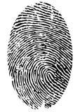 Singola impronta digitale Fotografie Stock Libere da Diritti