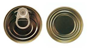 Singola latta del metallo immagine stock