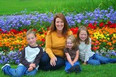 Singola mamma e bambini Fotografia Stock