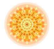 Singola mandala arancio illustrazione di stock