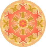 Singola mandala arancio illustrazione vettoriale