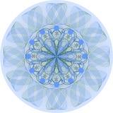 Singola mandala blu illustrazione di stock