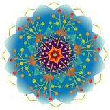 Singola mandala - colori del Rainbow royalty illustrazione gratis