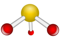 Singola molecola del NH3 dell'ammoniaca Fotografia Stock Libera da Diritti