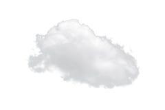 Singola nuvola bianca della natura isolata su fondo bianco Fotografie Stock Libere da Diritti