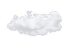 Singola nuvola bianca della natura isolata su fondo bianco Immagini Stock