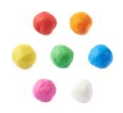 Singola palla del plasticine isolata fotografia stock