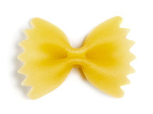 Singola pasta del farfallino Fotografie Stock