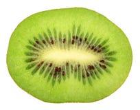 Singola sezione trasversale del kiwi Immagine Stock