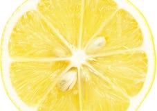 Singola sezione trasversale del limone Fotografie Stock Libere da Diritti