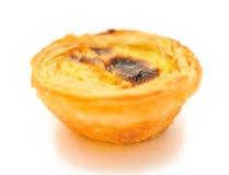 Singola torta portoghese dell'uovo fotografia stock libera da diritti