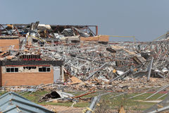 Singolarità di danno dal ciclone EF5 Immagine Stock Libera da Diritti