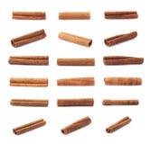 Singoli bastoni di cannella multipli Fotografia Stock