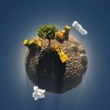 Singolo albero su terra Fotografie Stock Libere da Diritti