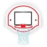 Singolo anello di pallacanestro illustrazione vettoriale