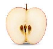 Singolo Apple con la fetta Fotografie Stock Libere da Diritti