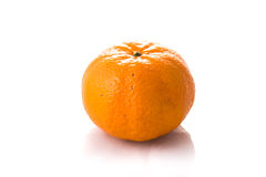 Singolo arancio Fotografie Stock Libere da Diritti