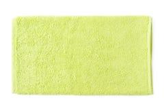 Singolo asciugamano del tessuto spugna isolato Immagini Stock Libere da Diritti