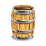 Singolo barilotto di legno Immagini Stock Libere da Diritti