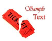 Singolo biglietto rosso per l'ammissione Fotografie Stock Libere da Diritti