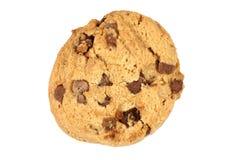 Singolo biscotto del biscotto di pepita di cioccolato fotografie stock libere da diritti