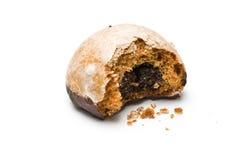 Singolo biscotto del miele con un morso Fotografia Stock